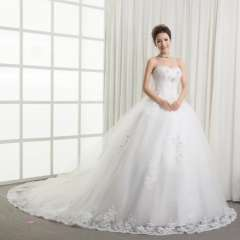 2013 elegant bandage tube top wedding dress luxury princess big train wedding dress Free Shipping