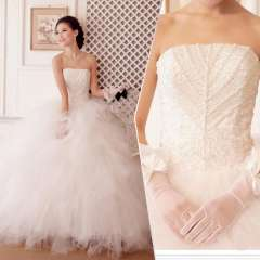 Wedding dress 2013 new arrival princess wedding dress tube top ultralarge puff skirt Free Shipping