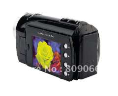 Cheap Price- black color 12MP multi-function 2.4' TFT LCD screen digital Video Camera HD support Flash Memory card(DV7000)