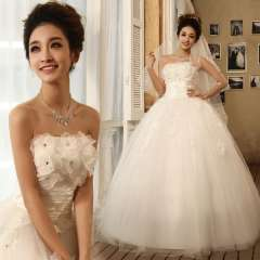 2013 embroidered lace slim tube top wedding dress wedding qi hs6276