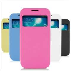 Soft Flip Leather Case for S4 Mini with Card Slots