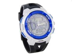 ANIKE Water-resistant Digital Watch with Light Alarm Stopwatch (Blue) M.