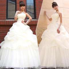 The bride wedding dress formal dress 2012 new arrival elegant princess sweet wedding qi Free Shipping