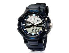 AK1282 Multifunctional 50 m Waterproof Analog & Digital Sports Diving Watch (Blue) M.
