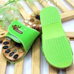 Health care Timor cobblestone massage slippers / health foot shoes - Green