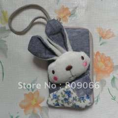 mobile phone accessories---animal patten Nolyn Plush mobile phone case OEM free logo cellphone pouch