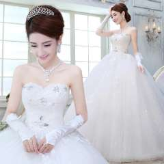 2013 princess tube top wedding qi formal dress bride lace vintage maternity hs1559