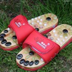 Health care Timor cobblestone massage slippers / health foot shoes - red