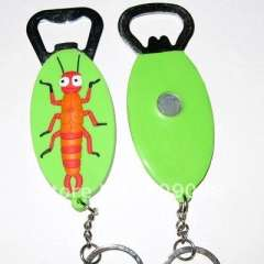 3D pvc wine opener with key ring