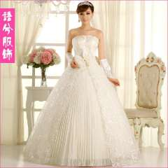 Lace wedding dress formal dress 2013 princess bride wedding tube top bandage embroidered 82285