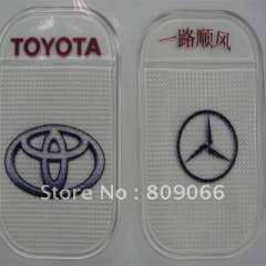 customized TOYOTA Silicon Sticky Jelly mobile phone Mat, transparent PU car anti slip mat, non slip pad, PU Magic Sticky Pad
