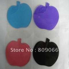 Free Shipping OEM logo apple shape Silicon magic Sticky Jelly mobile phone MP3 MP4 Camera PDA Mat car anti slip pad