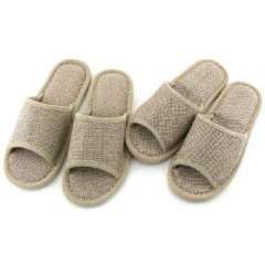 Home essential - natural linen non-slip tendon at the end slippers / sandals and slippers