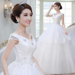 2013 wedding formal dress slit neckline high waist wedding dress princess maternity hs1556
