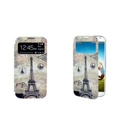 Eiffel Tower S-View Flip Cover for Galaxy S4