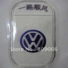 customized VW Silicon Sticky Jelly mobile phone Mat, transparent PU car anti slip mat, non slip pad, PU Magic Sticky Pad