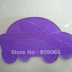 Personlized logo car shape Silicon Sticky mobile phone Mat, transparent PU car anti slip mat, non slip pad, PU Magic Sticky Pad