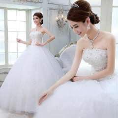 2013 bride wedding white wedding dress princess tube top hs1555
