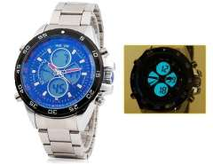 Men's Analog & LED Digital Display 30m Waterproof Sports Watch WH-1103 (Blue) M.