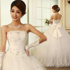New arrival 2013 tube top princess style butterfly strap bride hs6281