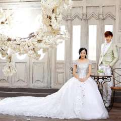 Urged bride wedding new arrival royal 2013 sweet princess wedding dress luxury big train wedding dress a930