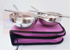 Creative | Italian cute Japanese stainless steel, travel, portable, cutlery sets, dishes couples | gifts