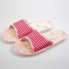 Home essential - natural linen sandals / couple breathable slippers | Random Color
