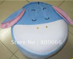 OEM & ODM Portable donkey animal lovely and pratical plush PVC promotion inflatable air stool