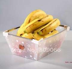 Eco-friendly PP fruit dish, PP transparent box, transparent clear plastic folding storage, packaging box