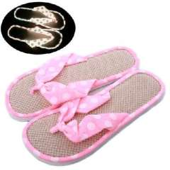 Storage luminous slippers summer new sandals series luminous slippers | White | Powder Point