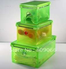 Imviromentaly friendly PP collection bin, PP transparent box, transparent clear plastic folding storage, packaging box