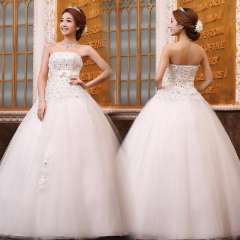 2013 summer tube top hot-selling sweet princess lace flower wedding dress