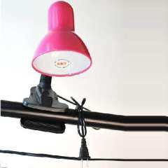 Practical small clip lamp / bedside lamp / night light (108B)