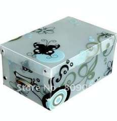 Eco-friendly PP shoes packing box with cover, PP transparent box, transparent clear plastic folding storage, packaging box