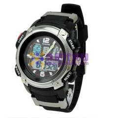 Anike AK1163 Multi-function LED Watch with Dual Movt Design & Green Light