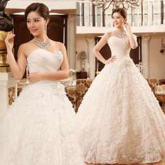 The bride wedding dress formal dress 2013 princess tube top slim strap sweet wedding dress