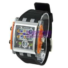 Chic Anike AK1057 Multi-function LED Watch With Dual Movt Design & Green Light