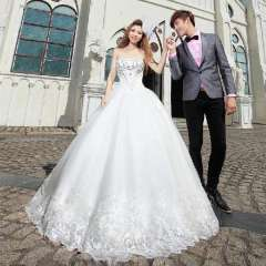 Urged tube top princess 2013 new arrival sweet straps wedding dress 899