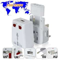 WORLD TRAVEL ADAPTER WITH USB CHARGING PORT + SURGE PROTECTION