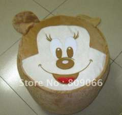 OEM & ODM Portable micky animal lovely and pratical plush PVC promotion inflatable air stool