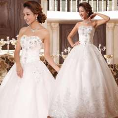 2013 new arrival wedding dress sweet princess strap tube top wedding dress sweet princess wedding dress