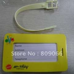 2012 Promotion customized soft pvc luggage tag