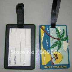 Promotional gifts customized 2d\3d debossed embossed soft pvc cleaner personalized luggage tag