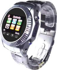 New Design-- 1.5 inch stainless steel wacth with 1.3M camera phone bluetooth with TF, touch screen watch phone