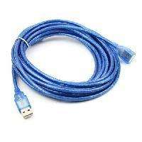 Five meters USB data line single ring bold - Blue
