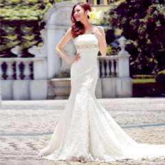 Urged 2013 bride new arrival lace fish tail sweet princess slim short trailing 870