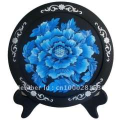 high quality Blue Lotus carving art activated carbon carving crafts(368*30MM)