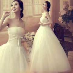 Tube top vintage wedding dress 2013 sweet bride princess wedding dress