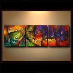 Fashion handmade abstract oil painting frameless OIL0028