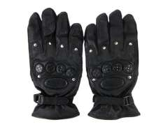 Leather Anti-slip Outdoor Gloves (Black)